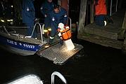 Rettungsübung bei Nacht