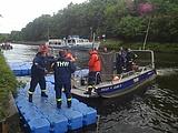 Übergabestelle auf dem Wasser